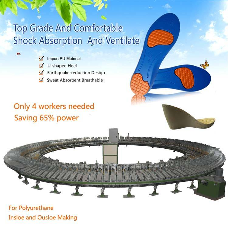 high quality pu foaming equipment for shoe and insole and sole