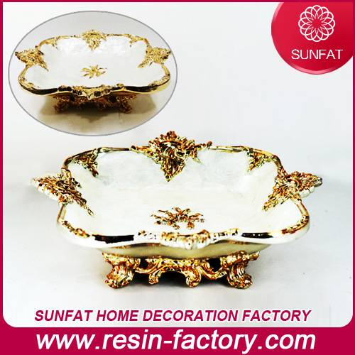 Home decoration items Resin Fruit plate decorative home decor
