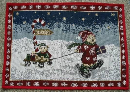 supply fabric rug, christmas mat, floor pad