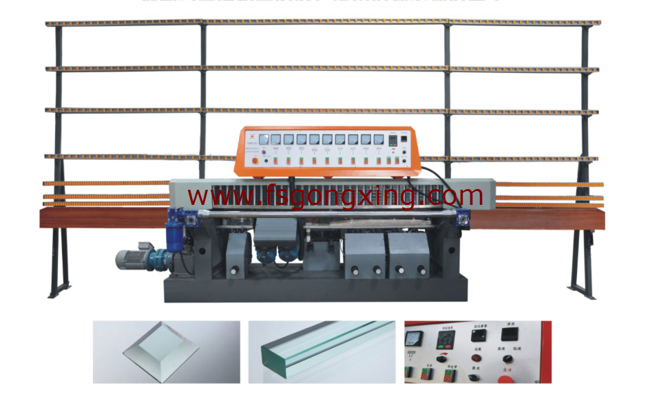 Glass Straight Line Edging Machine Model GXZ9B-45 degree