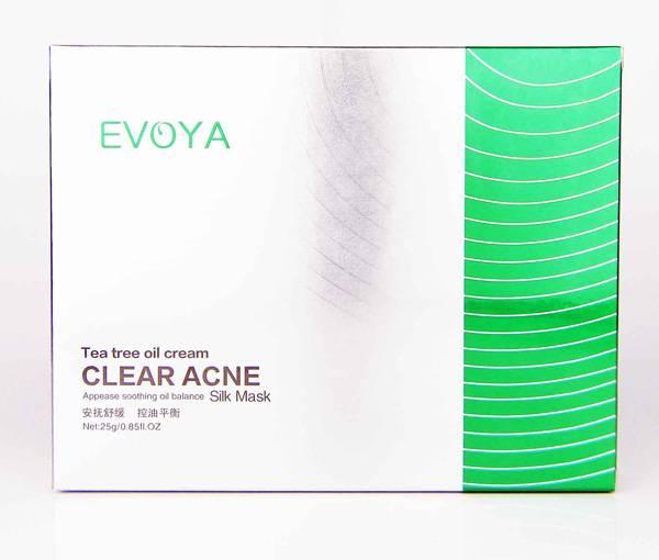 25gx6PCS Whole Sale Oil Balance Facial Mask Tea Tree Oil Cream Clear Acne Silk Mask
