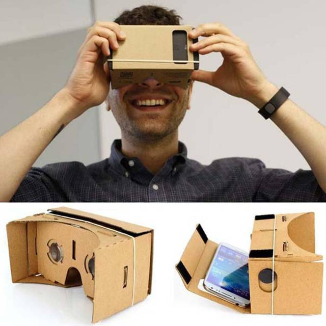 High quality DIY Magnet Google Cardboard Virtual Reality VR Mobile Phone 3D Viewing Glasses For 5.0