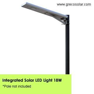 All in One Solar Garden Lights 18 Watt, China Original Supplier