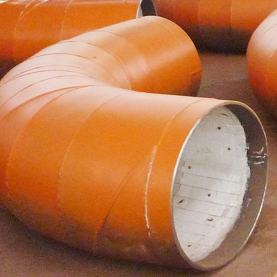 Ceramic Tile lined elbows