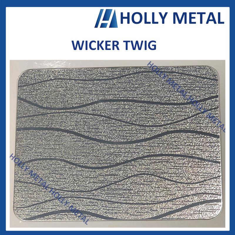 Stainless Steel Pattern Embossed Etched Decoration Sheet (Wicker Twig)