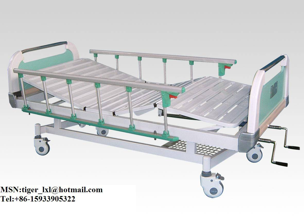 Movable Double Shakes Patient Bed With New Type Bed Head A-43