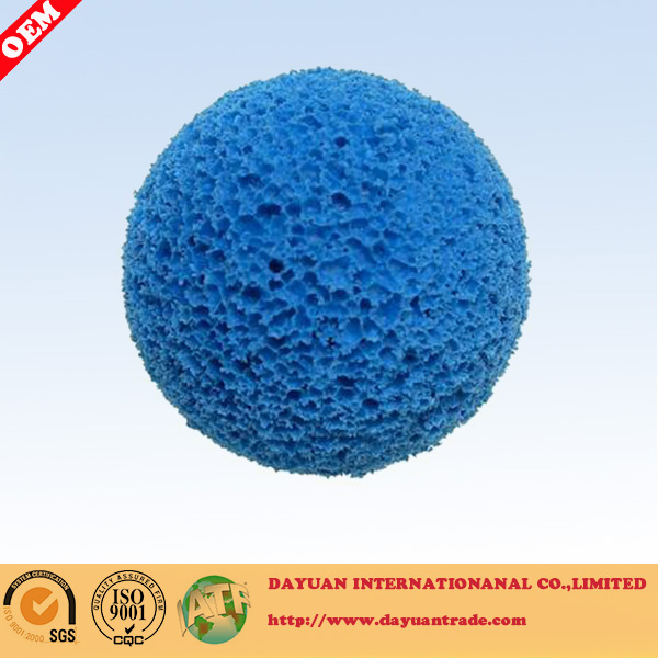 Rubber cleaning ball for power plant