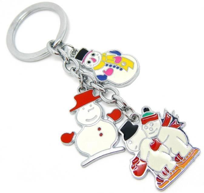 custom promotional gift alloy Christmas gift keychains