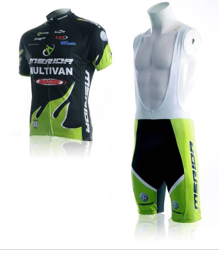 merida cuostom cycling jersey bib short
