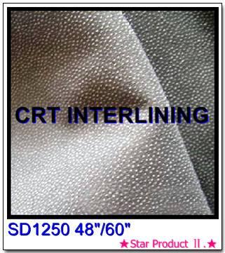 Plain woven interlining