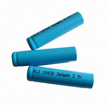 Lithium ion AAA battery with 500 Times Life Cycle and 360mAh Nominal Capacity
