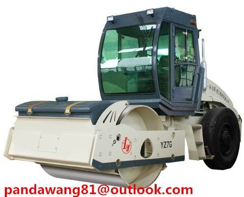 Chinese 7Tons Single Drum Vibratory Roller YZ7G