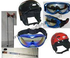 skiing products, skating, ski pole, ski goggle, ski helmet, ski boots, ski gloves