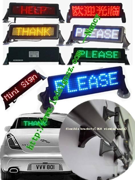 LED mini car sign