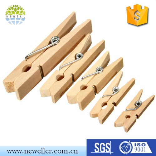 High Quality mini bamboo clothes pegs With Great Quality