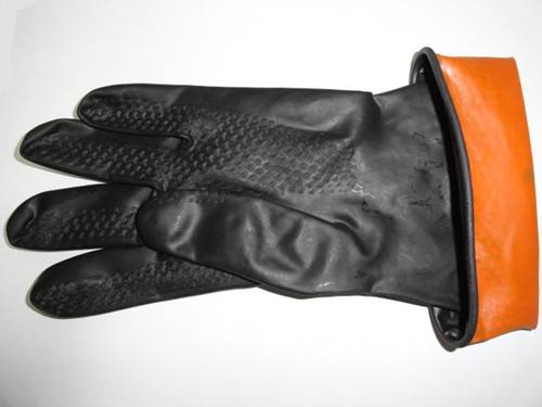 black industrial rubber gloves,Safety latex Gloves