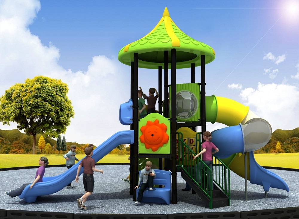 Attractive Design Wonderland Series Playground Equipment Outdoor Spiral Slide WD-WN237