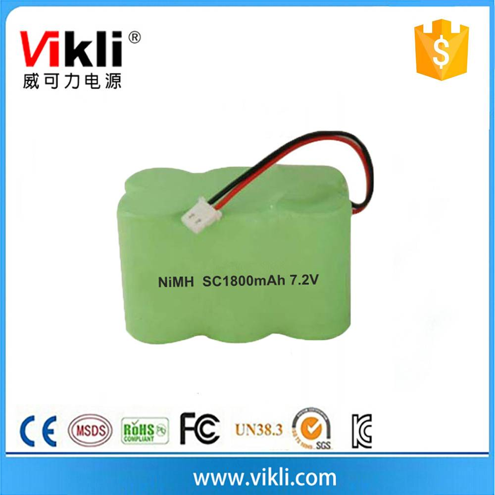 Rechargeable sc battery 1800mah emergency light nimh battery