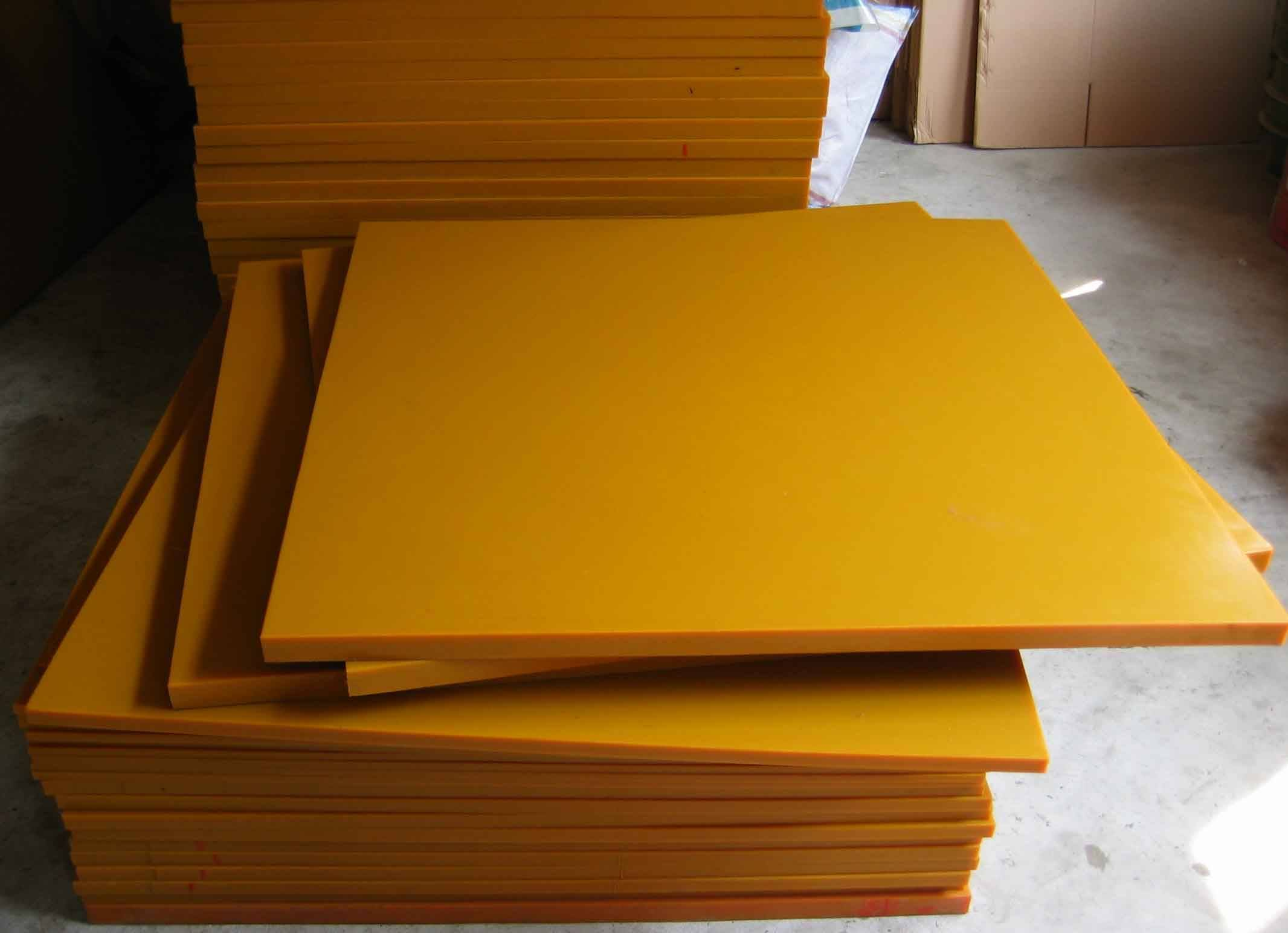 80-90shore A dark yellow polyurethane sheet, PU sheet