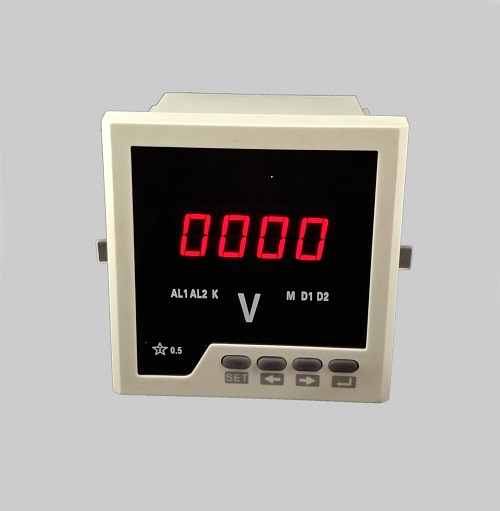 White and Black Shell LED Display Single Phase Programmable Digital Voltage Meter