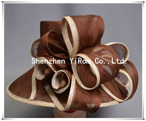 YRSM13094 cocktail hat,church hat, sinamay hat, occasion hat, race hat,derby hat