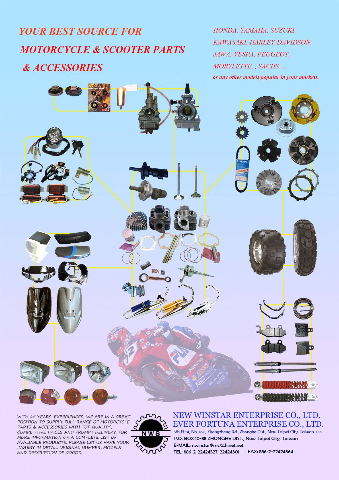YOUR BEST SOURCE FOR MOTORCYCLE & SCOOTER PARTS & ACCESSORIES