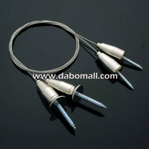 Suspended cable, screw type