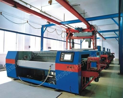 electroplating production plant for gravure cylinder