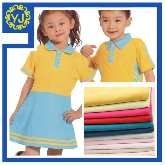 Bleached T/C 85/15 school uniform fabric for make pocket