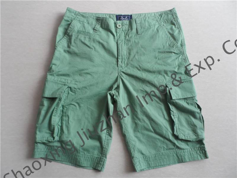 men's cotton solid cargo shorts