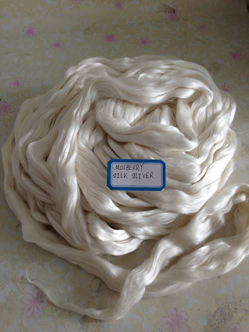 Mulberry and Tussah Silk Fiber 100%Silk Material