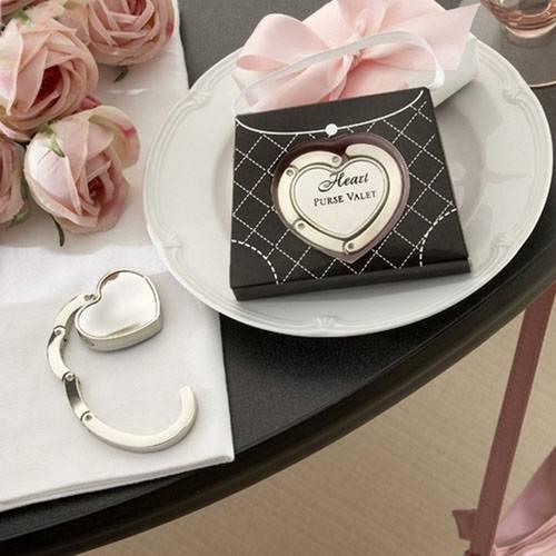 Metal Heart Shaped Purse Valet Wedding Favor