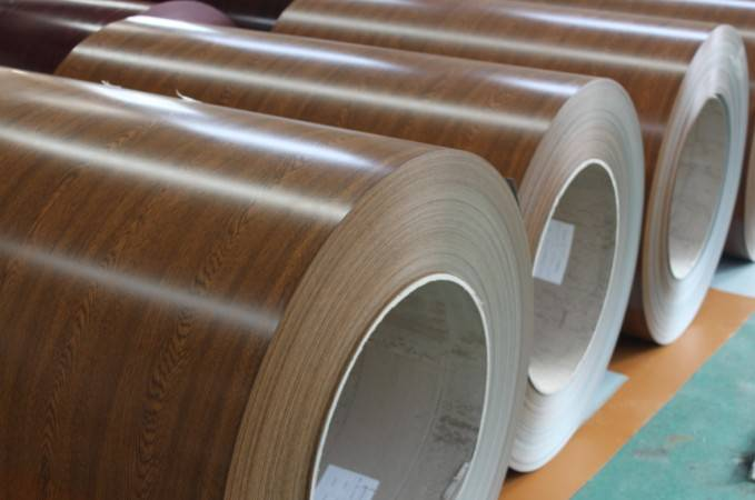 Enhanced durability wooden grain ppgi steel sheet