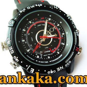 Waterproof 2.0MP 30fps 1280x960 Spy Fashion Watch Digital Video Recorder with Hidden Camera - 4GB