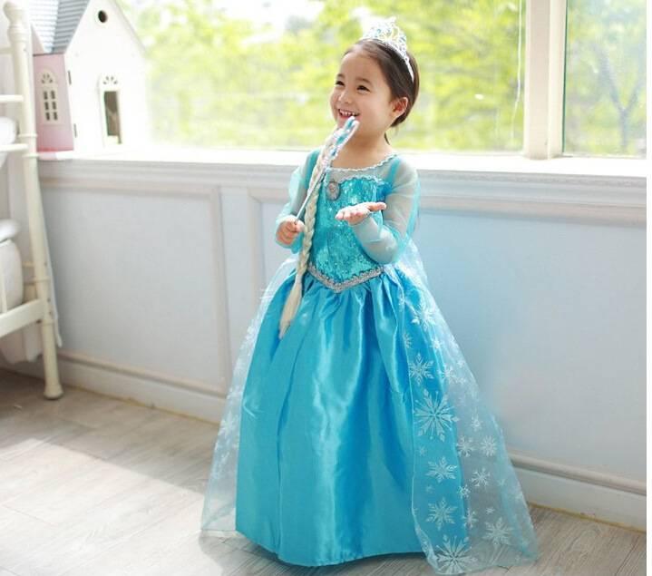 2015 frozen princess dress trade dress for girl