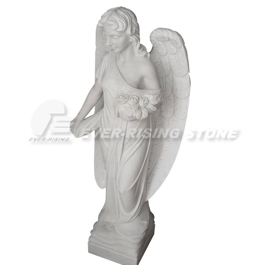 EMS-006 China Marble Angel Statue, Angel Carvings
