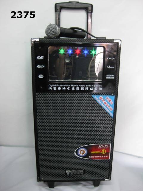 Multimedia outdoor movable speaker