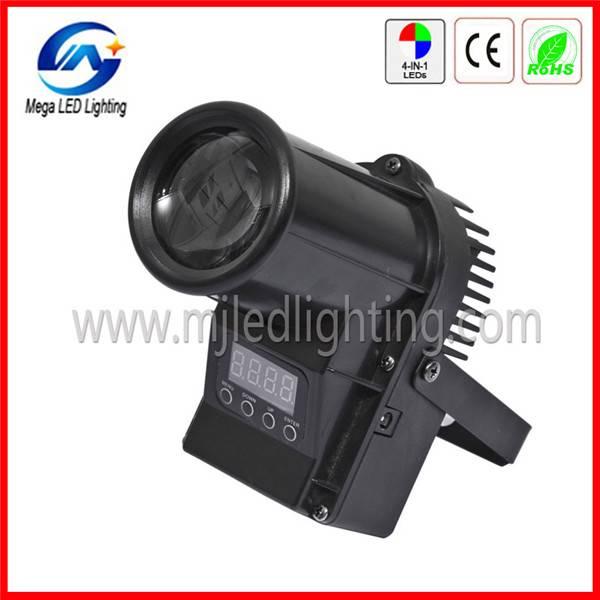 High efficiency DMX RGBW10W Quad Mini led pinspot light