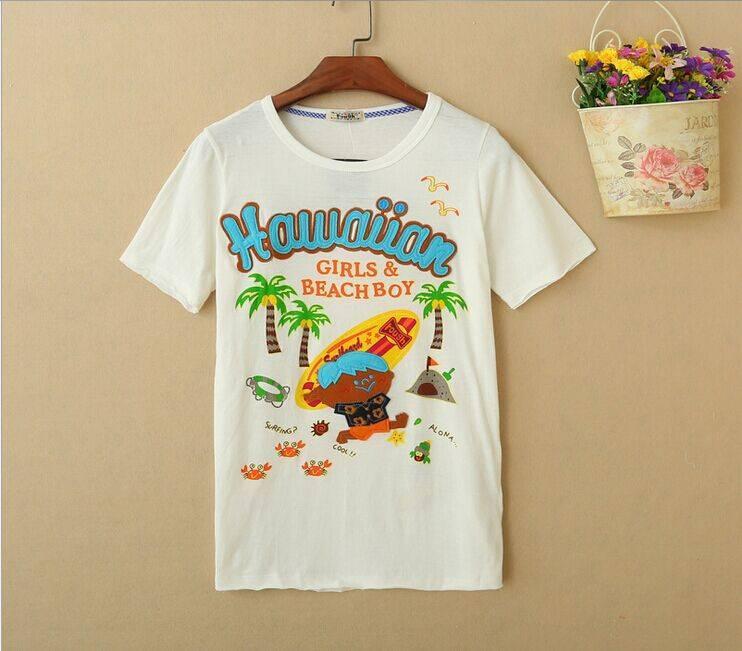 2015 New Lady Surfing Short SleeveT-Shirt