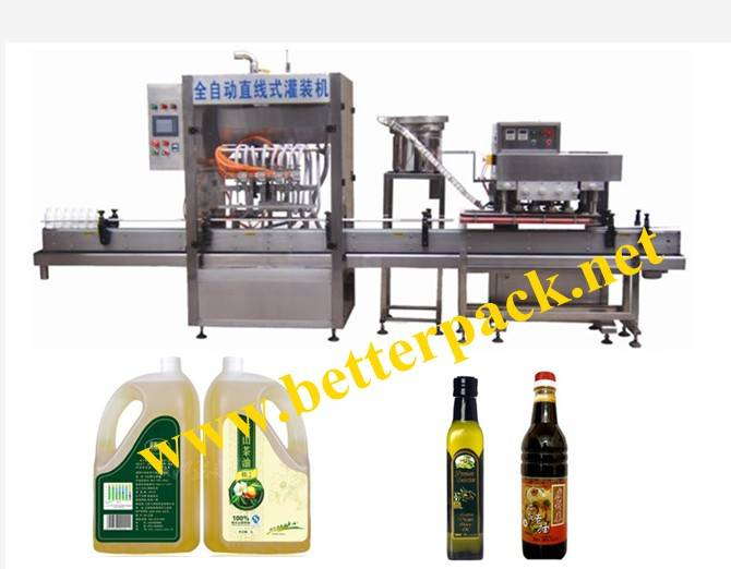 liquid bottle filling machine with capping machine