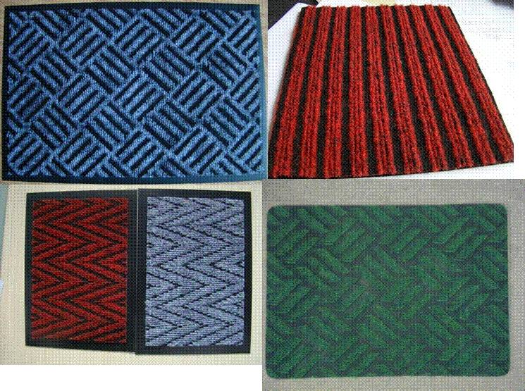 CHEVRON Heavy Traffic Needle Punch Carpet Scraper Floor Mats