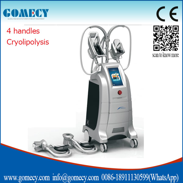 Cryolipolysis Cool Shaping Machine 4 Handles Body Shaper Vibrating Machines