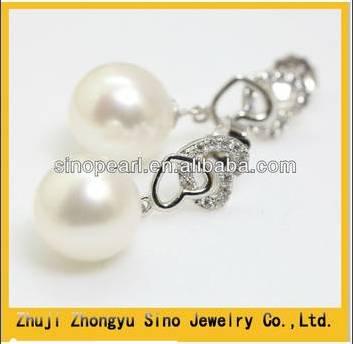 Elegant 925 Sterling Silver Freshwater Lovely heart Pearl Earring