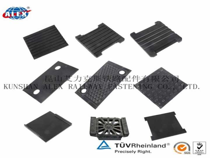 Anti-Vibration Machine Rail Grooved Rubber Pad For Railway