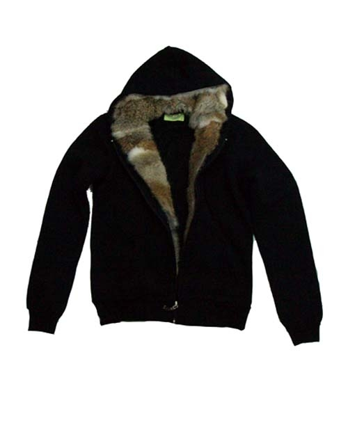 JC Rabbit Fur Hoodie Jacket
