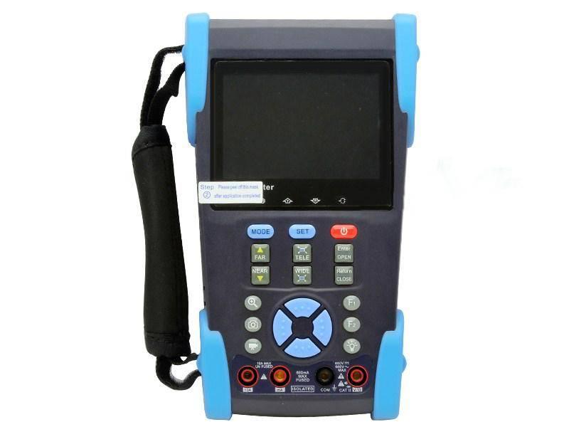 3.5LCD CCTV Tester Digital Multimeter/Ping IP/POE Test/Line function/TDR/4G SD