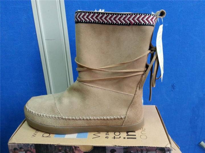2014 Toms Suede Trim Women Boots