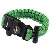 selling 550 paracord survival bracelet as military outdoor survival kit with compass & fire starter