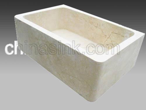 New Crema Marfil Marble Farmsink