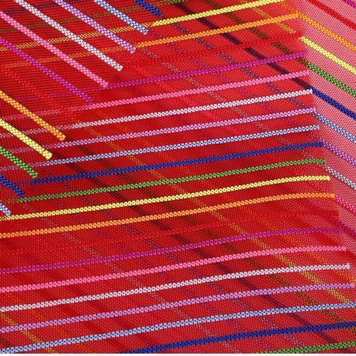 Netscoco Rainbow Striped Nylon Mesh